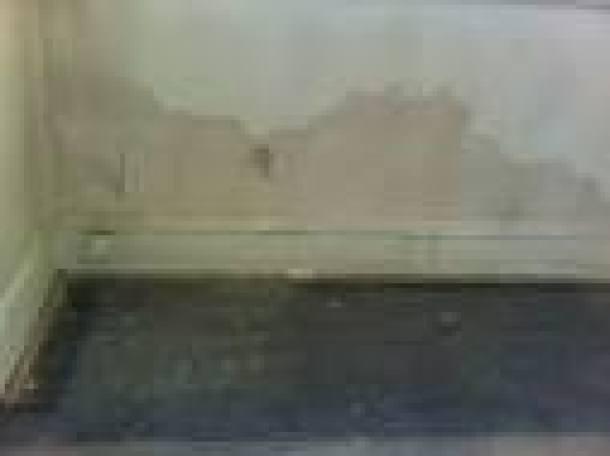 Rising damp in external below grade basement wall