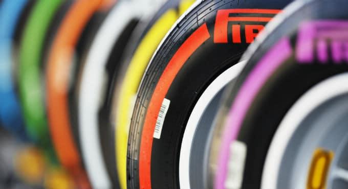Kleuren Formule 1 banden Pirelli compounds 2018 | Getty
