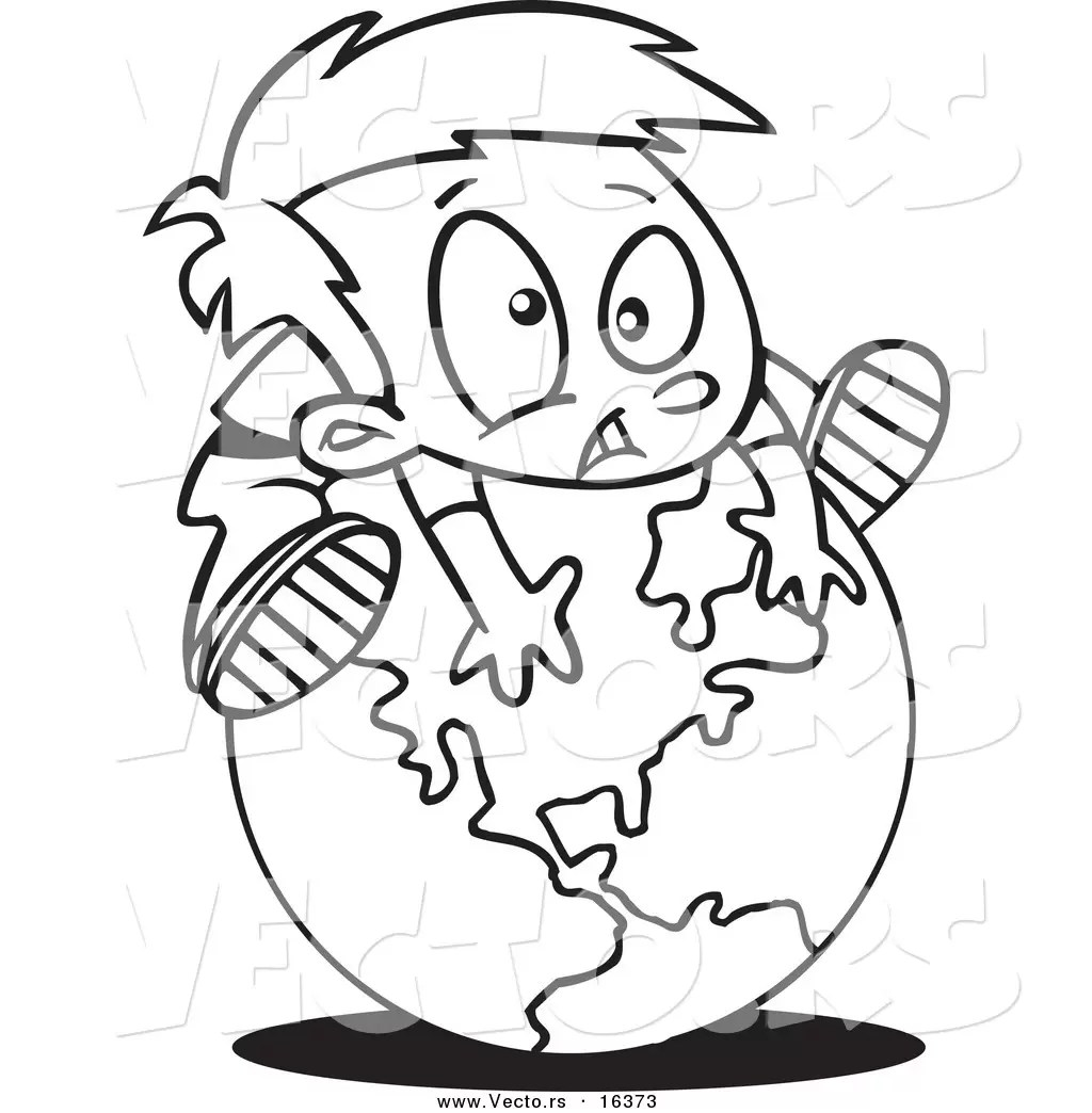 Coloring Page 7 Continents
