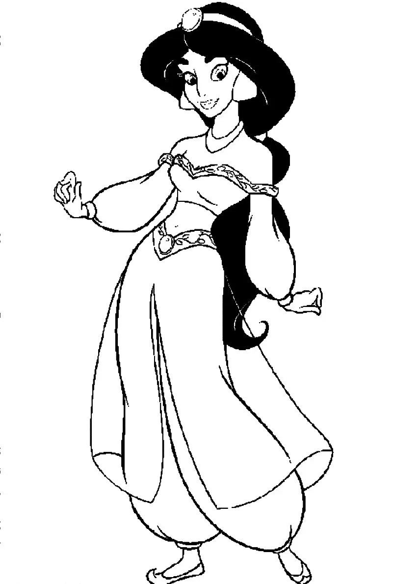 disney jasmine coloring pages printable also disney coloring pages