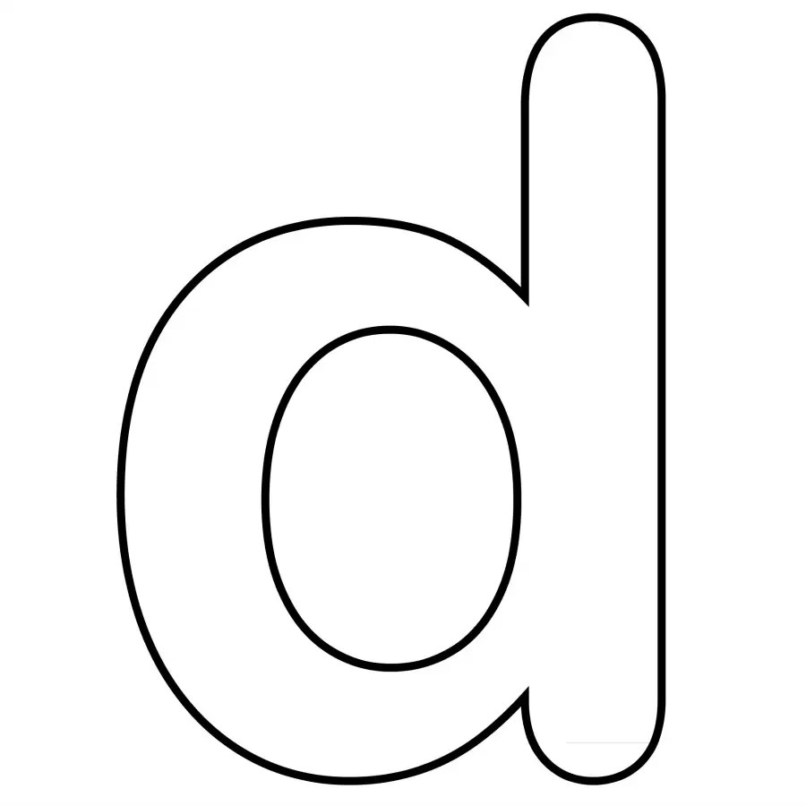 printable letter d coloring pages only coloring pages
