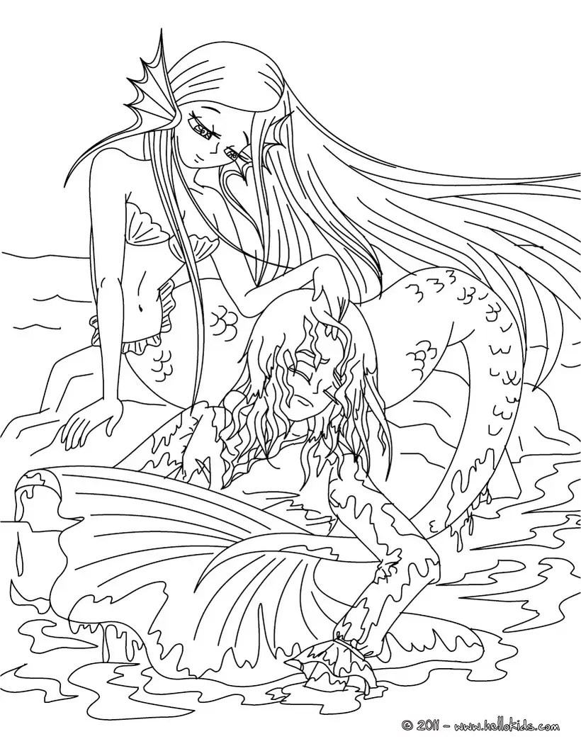 coloring pages for teenagers difficult mermaid free coloring pages