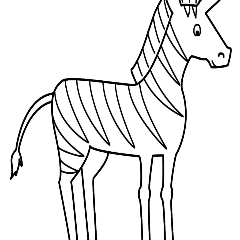 Easy Baby Zebra Coloring Pages
