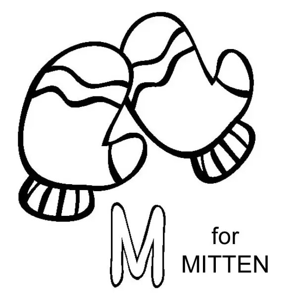 is for mitten coloring page only coloring pages
