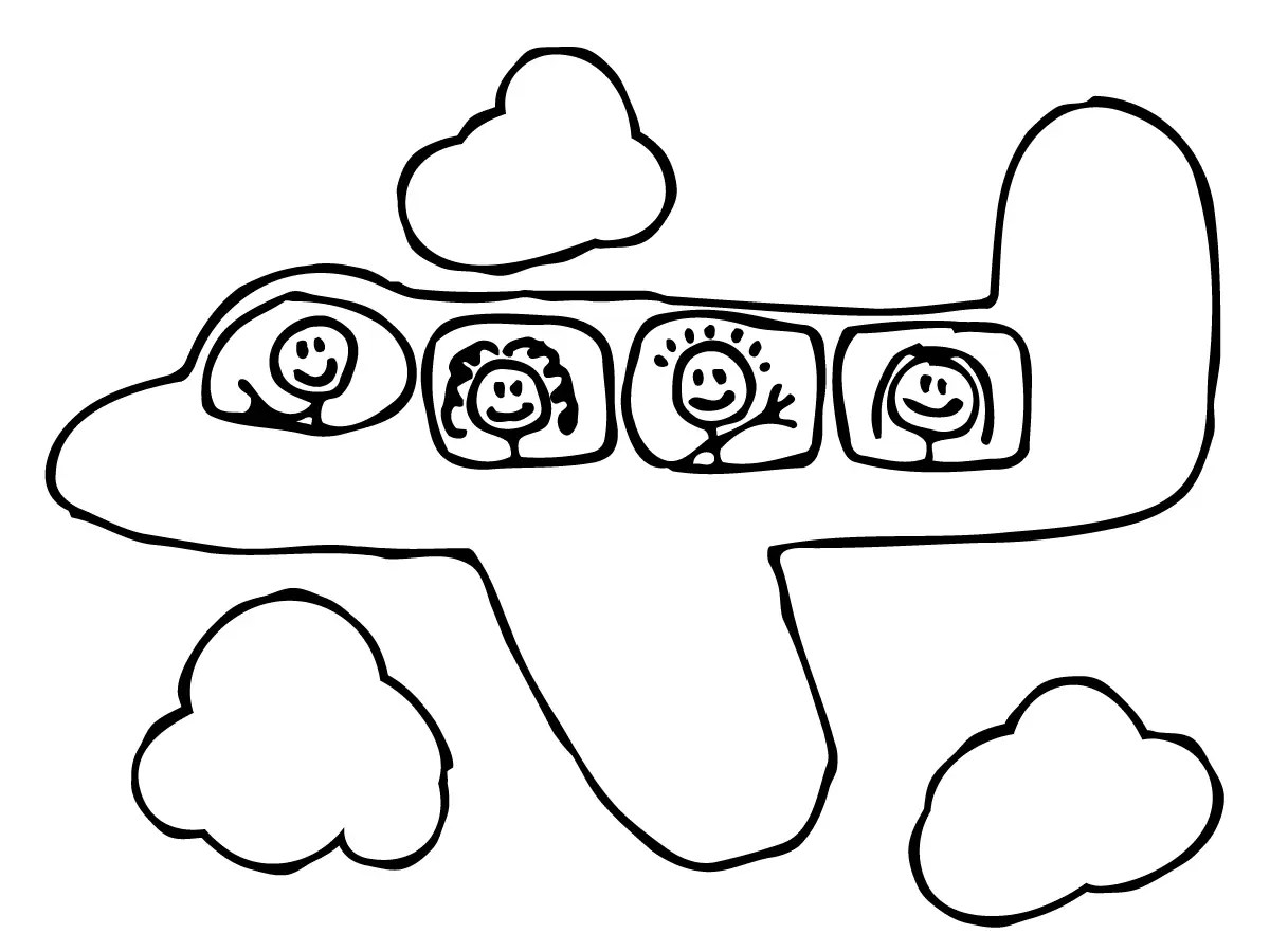 kids outside in addition airplane clip art coloring pages on nursery