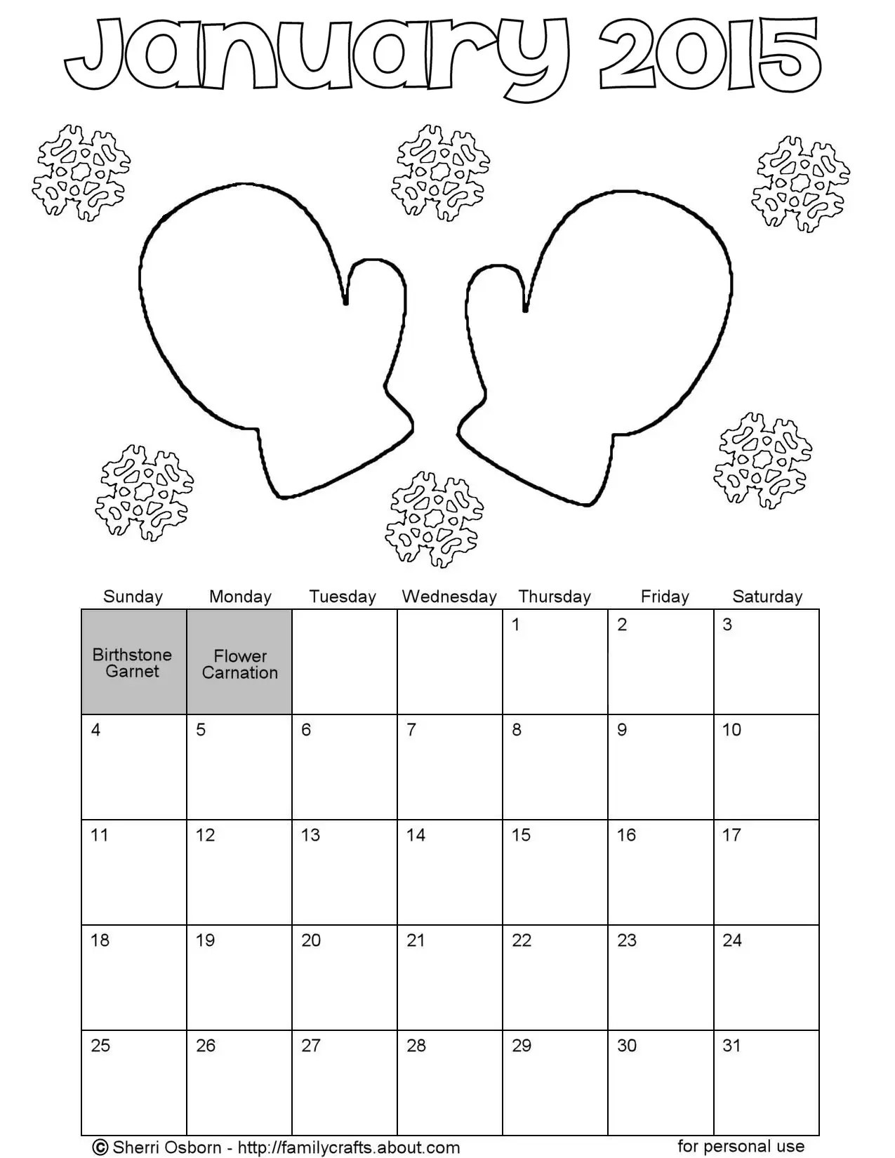 Weather Calendar Coloring Sheets