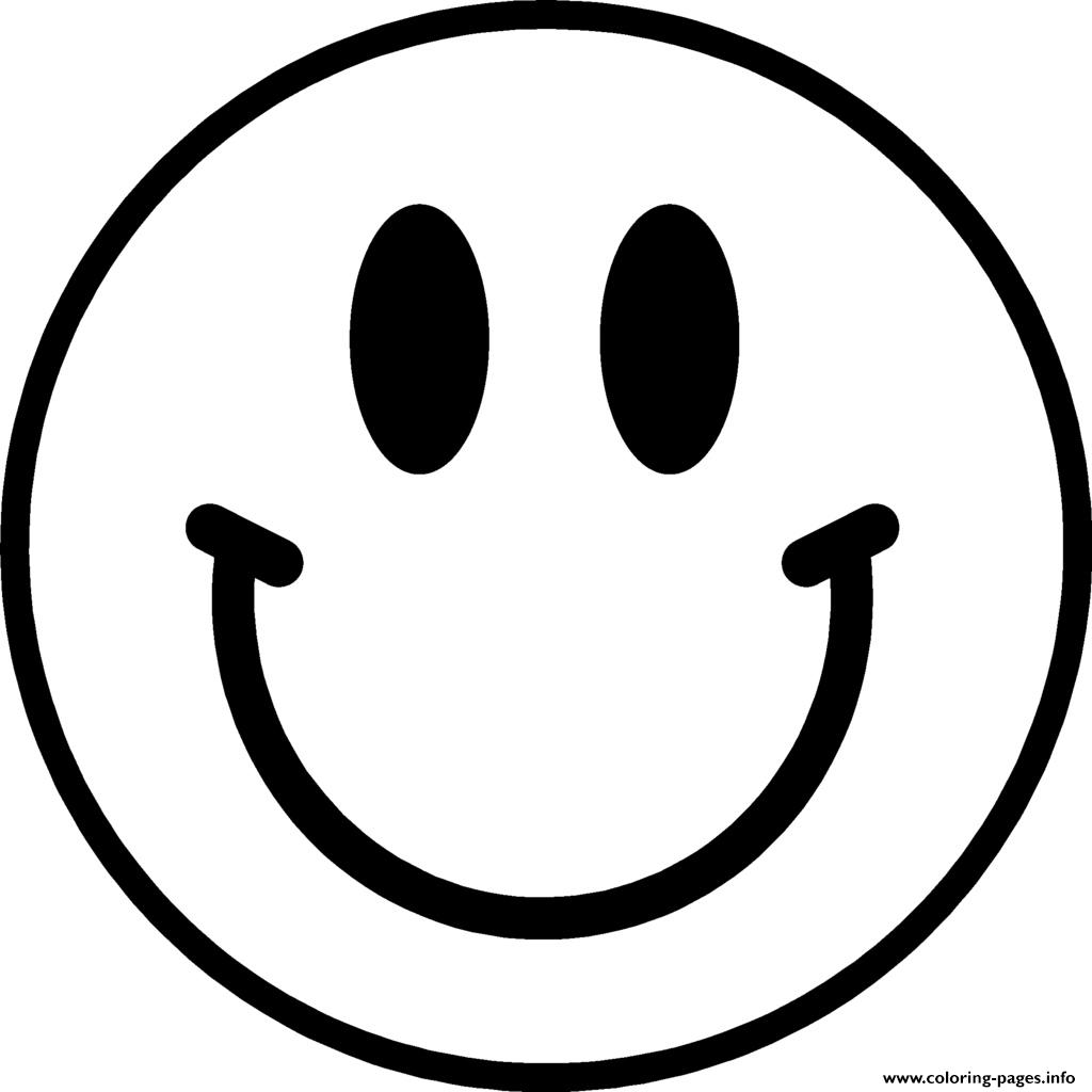 Emoji Coloring Pages Smile Face