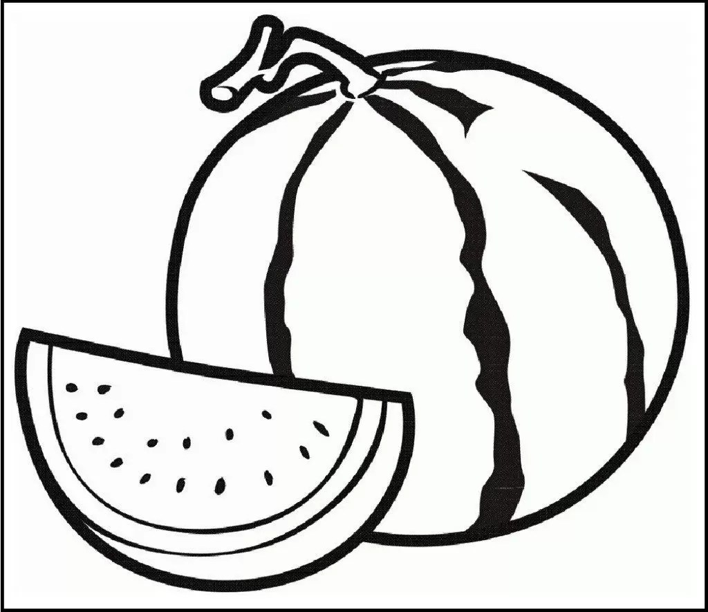 Watermelon Coloring Pages Printable