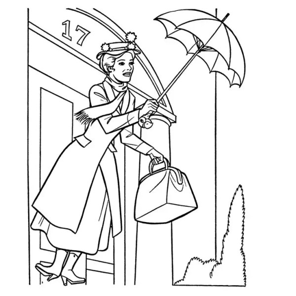 mary poppins coloring pages # 70