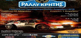 Οι συμμετοχές του 40ου Rally Κρήτης