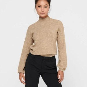 ONLMARYLYNN L/S PULLOVER KNT - TOASTED COCONUT
