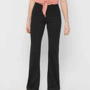 ONLFEVER STRETCH FLAIRED PANTS JRS NOOS - BLACK