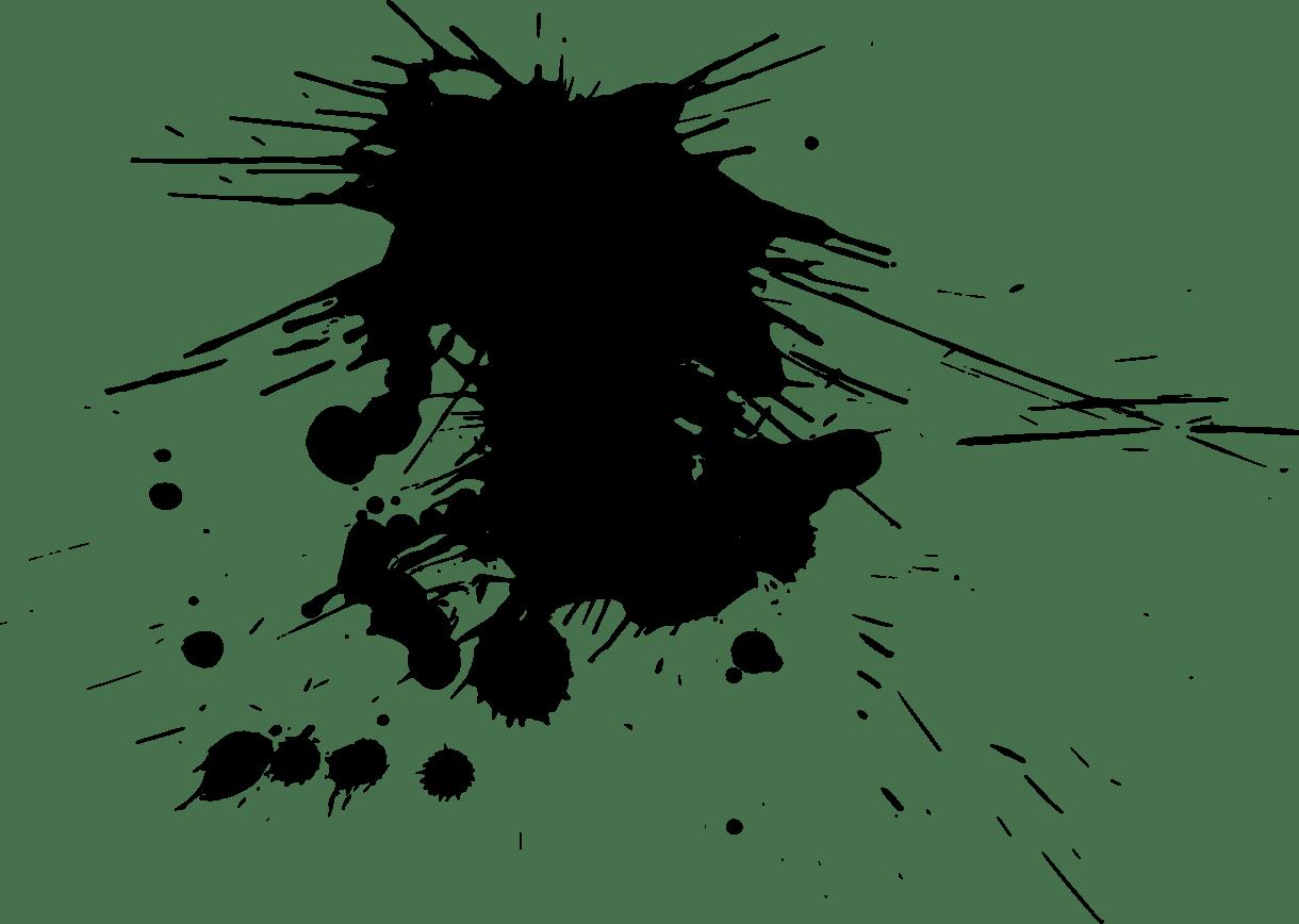 18 Paint Splatters Transparent