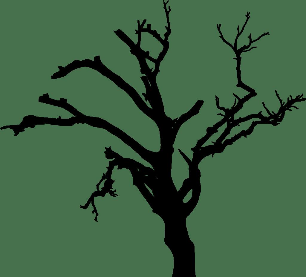 10 Spooky Dead Tree Silhouette Transparent Vol 2