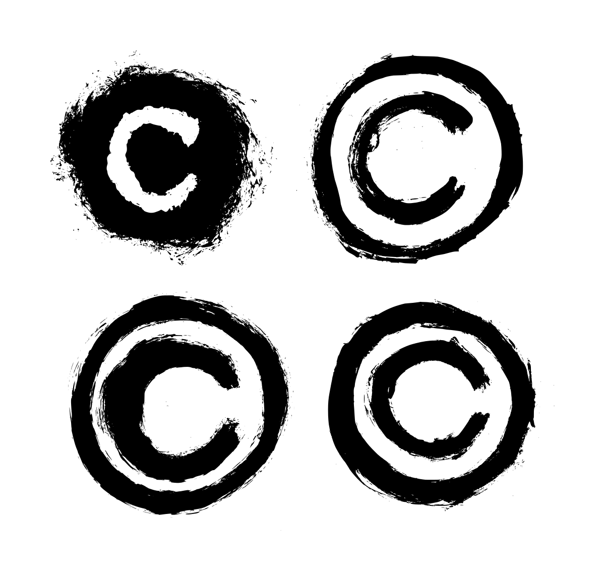 4 Grunge Copyright Symbol Transparent