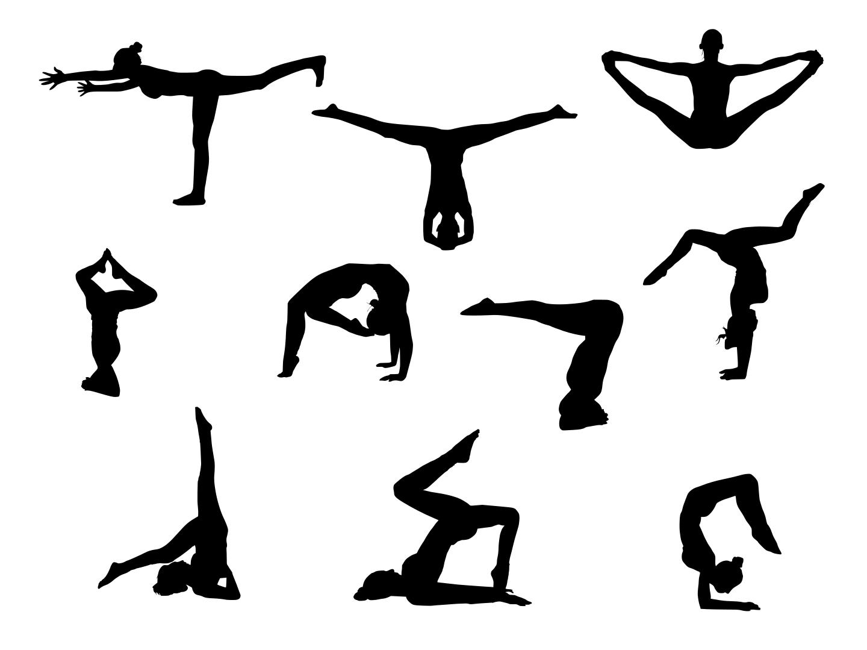 10 Yoga Silhouette Transparent