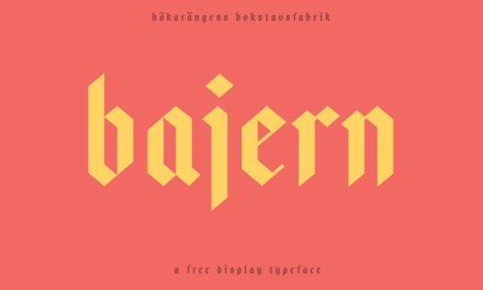 Bajern : A free typeface