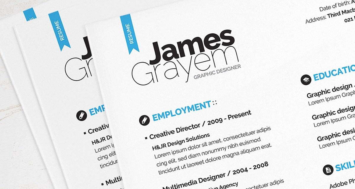 Resume / CV Template + Cover Letter