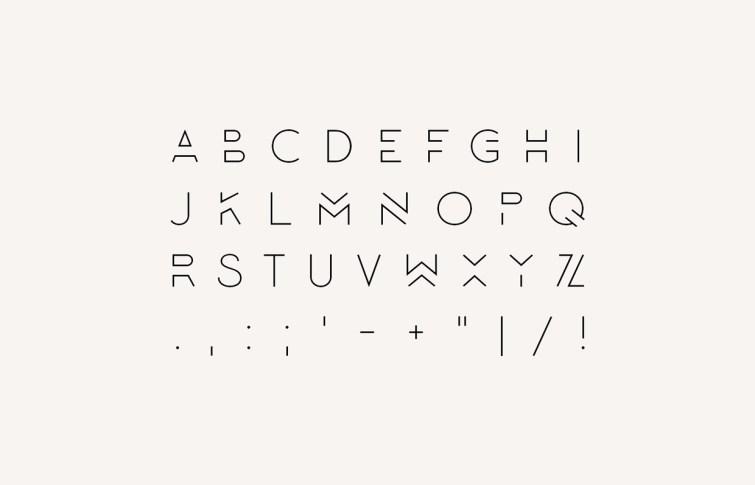 Lombok regular free font showcase