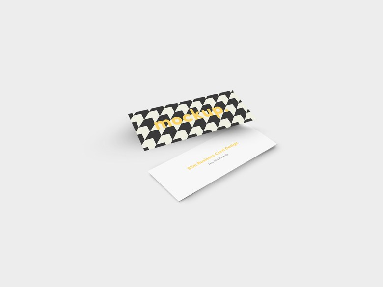 Slim Business Card Mock Up 03