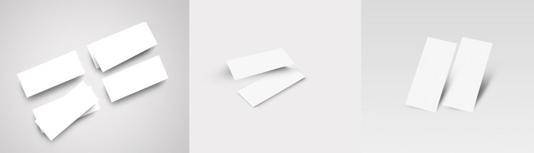 Slim Business Card Mock Up 04