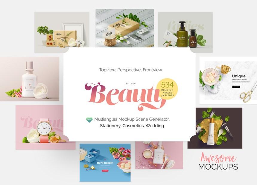 Beauty : Mockup Scene Generator | Only Graphic Design