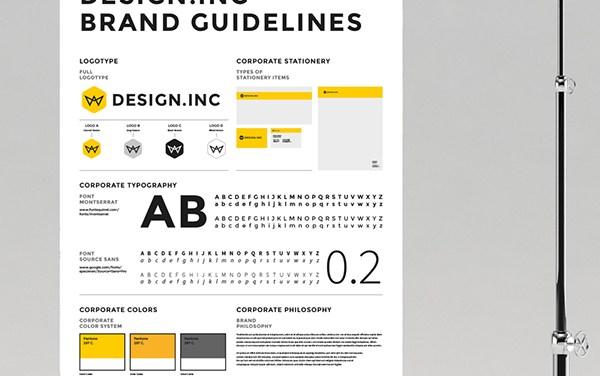 Brand Manual and Identity Poster (Premium)