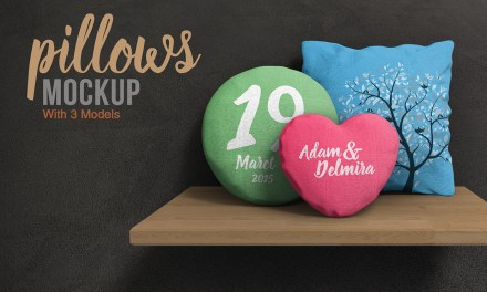 Great Pillow PSD Mockup