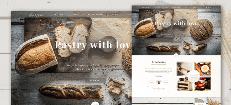 Free Bakery PSD Web Template 00