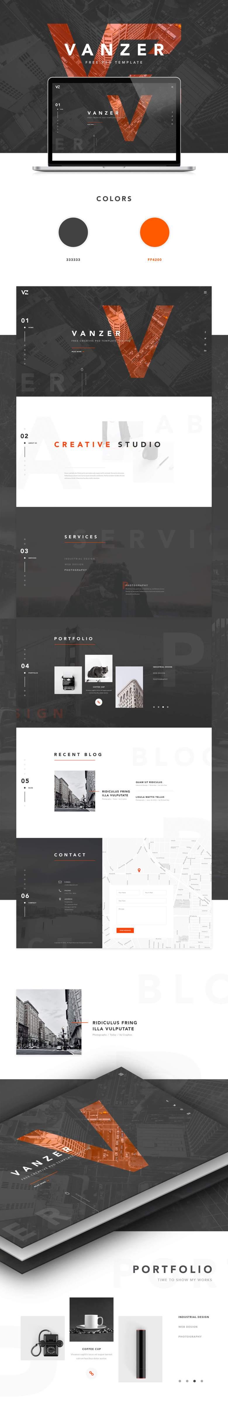 Vanzer-FREE-PSD-Portfolio-Website