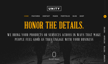 Honor – Unity Free PSD