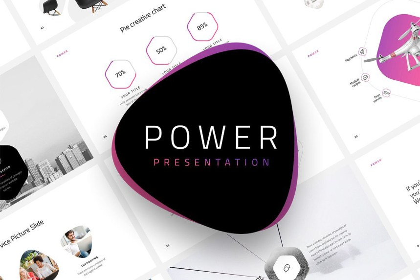 Modern And Professional Free PowerPoint Template Only Graphic Design - Free modern logo templates