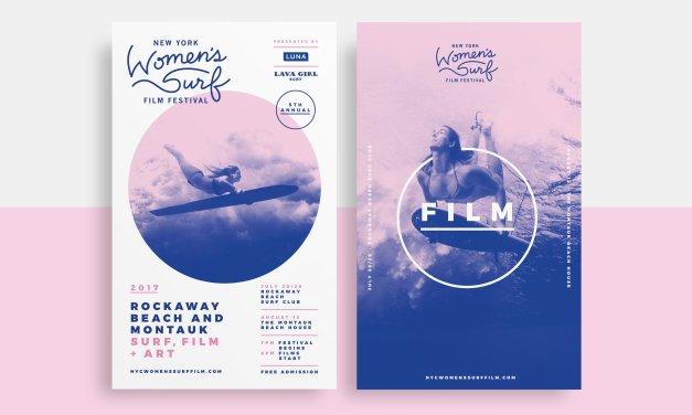 New York Women's Surf Film Festival Branding
