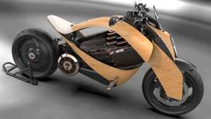 newron motors concept motorcycle with wooden body1