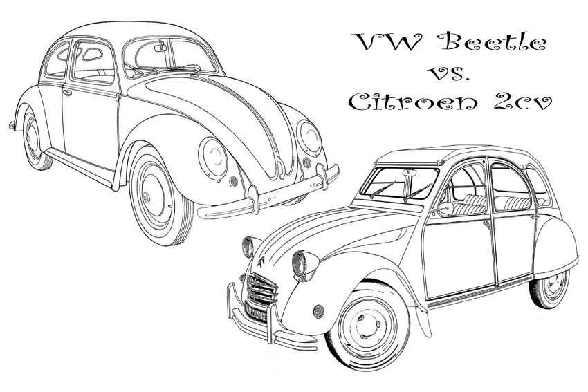 color in your favorit cars coloring page with some bright colors