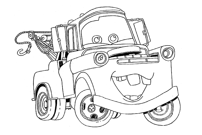 free disney cars tractors coloring pages