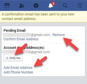 add-facebook-email-address
