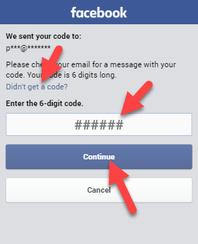 email-code facebook password reset in hindi Freealls