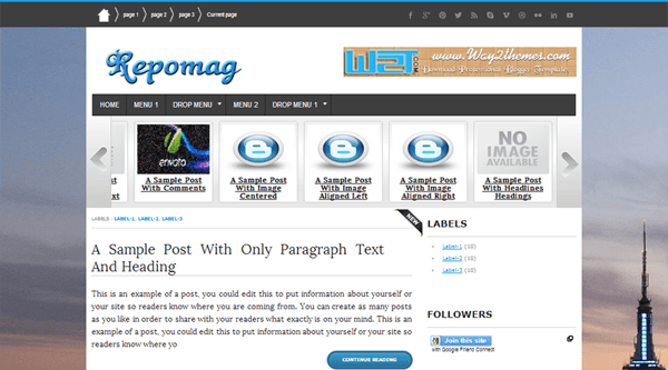 Repomag-Blogger-Template
