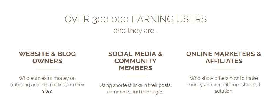 shorte.st has Over 300 000 earning users