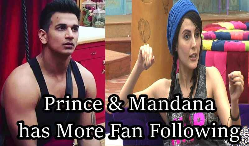 Prince & Mandana has more fan following in Bigg Boss 9
