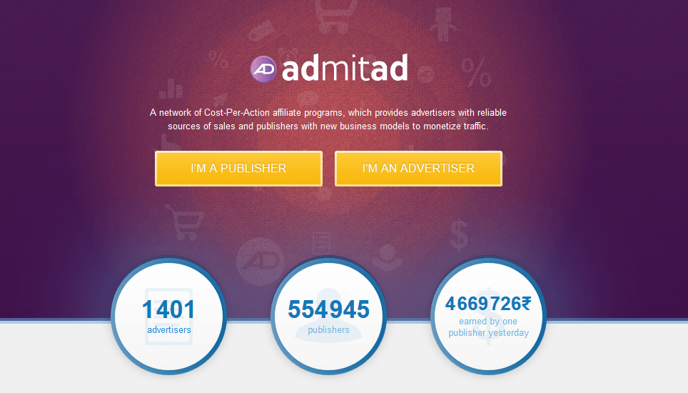 admitad homepage