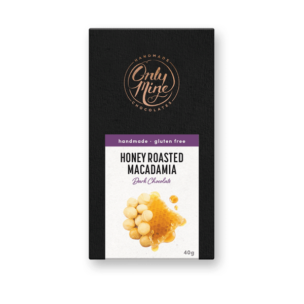Honey Roasted Macadamia Dark Chocolate Bars