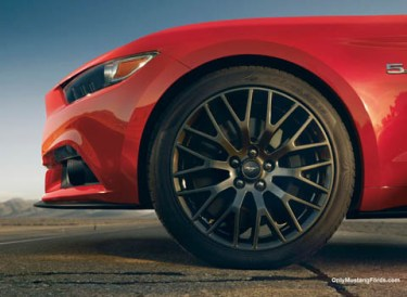 alloy wheels on the new mustang