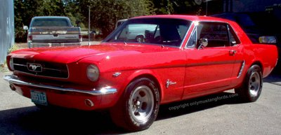 1965 ford mustang coupe red