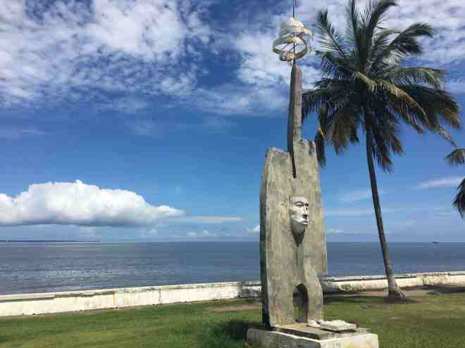 Beachfront sculpture