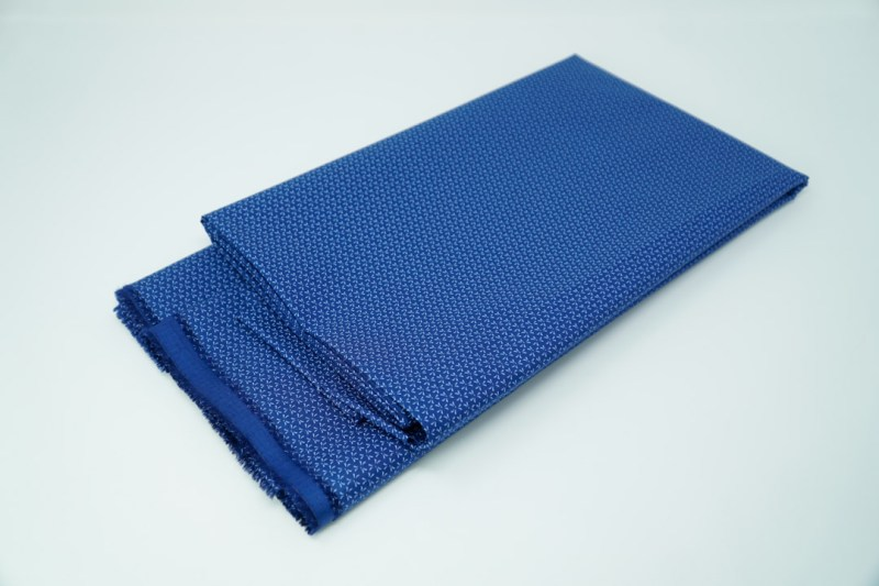 blue on blue design cotton face mask material