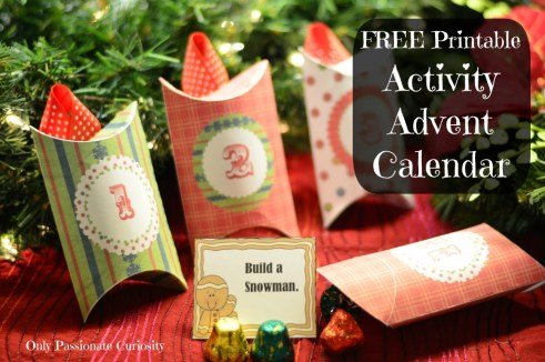 Free Printable Activity Advent- a fun holiday tradition