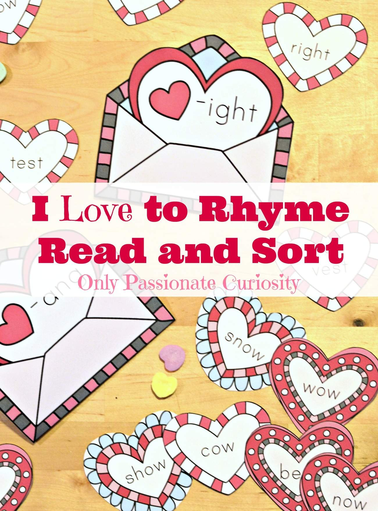 Valentines Day Themed Rhyming Pack Only Passionate Curiosity