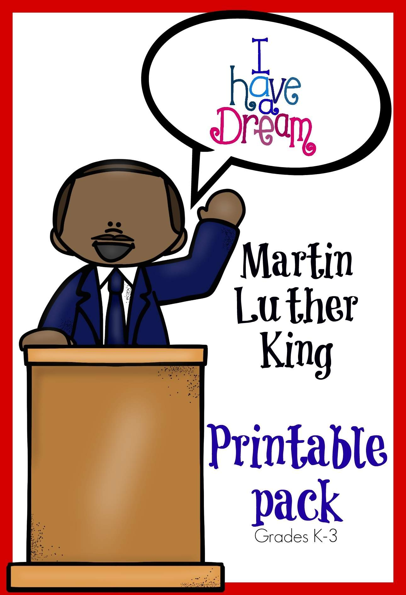 Martin Luther King Printables Only Passionate Curiosity